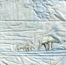 > Original Landscape Watercolor Quilt Arctic White