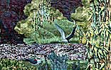 Gallery of Original Landscape Art Quilt Hidden Waters