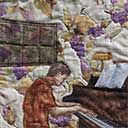 Gallery of Original Landscape Art Quilt Piano Musician