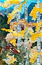 Gallery of Original Landscape Art Quilt Quivering Gold