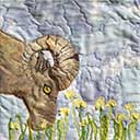 Gallery of Original Landscape Art Quilt Tetons Big Horn Ram