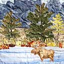 Gallery of Original Landscape Art Quilt Teton Moose