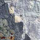 Gallery of Original Landscape Art Quilt Tetons Mountain Goats