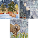 Gallery of Original Landscape Art Quilt Tetons Triad