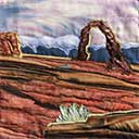 Gallery of Original Landscape Art Quilt Delicate Arch