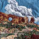 Gallery of Original Landscape Art Quilt Window Rock