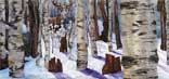 > Original Landscape Watercolor Quilt Winter Woods