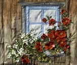 > Original Landscape Watercolor Quilt Cabin 2 at Kalaloch