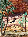 > Original Landscape Watercolor Quilt Canyon de Chelly