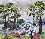 Gallery of Original Landscape Art Quilt The Little Crabapple Tree