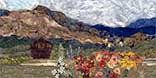 > Original Landscape Watercolor Quilt El Rancho Pinoso II