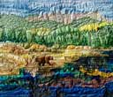 > Original Landscape Watercolor Quilt Opal Lake of the San Juans