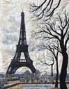 > Original Landscape Watercolor Quilt Paris