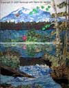 Gallery of Original Landscape Art Quilt Mt Rainier Tranquility