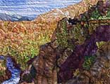 Gallery of Original Landscape Art Quilt On the Edge