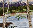 Gallery of Original Landscape Art Quilt Mt. Wilson Beams on Alta Lake