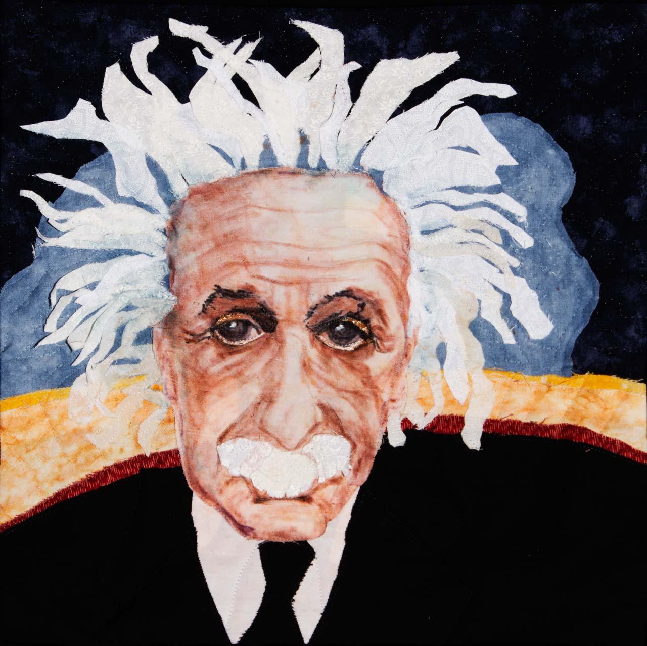 Einstein A Fabric Ladndscape Art Quilt