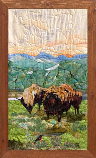 Early June at YellowstoneOriginal Landscape Quilt Art Quilt