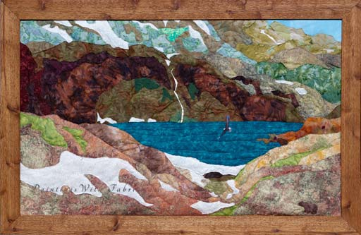 Emerald Lake of the San Juans Original Landscape Quilt Art Quilt