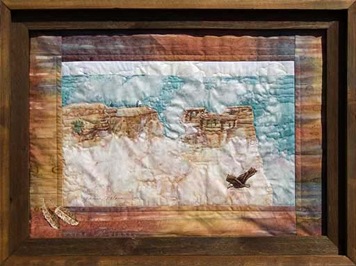Grand Canyon, Mather Point Unframed Original Fabric Art Painting