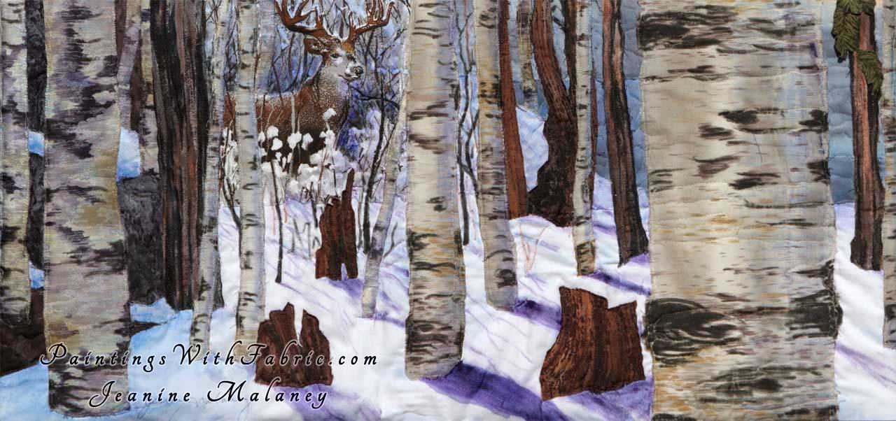 Winter Woods A Fabric Ladndscape Art Quilt