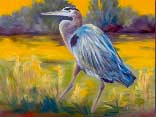 >Landscape Oil Painting Gallery  Gallery of Original Oil Painting Great Blue Heron