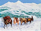>Landscape Oil Painting Gallery  Gallery of Original Oil Painting Winter Pack Train