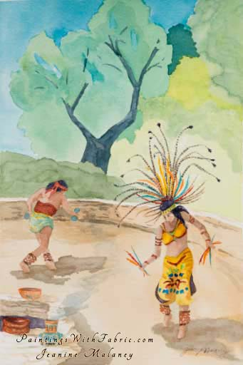 Aztec Fesival - an Original Southwest Watercolor Painting