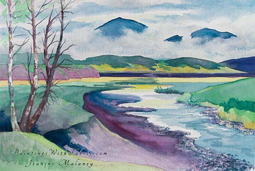 Morning Fog on the Rio Grande - an Original Artwork Watercolor Painting