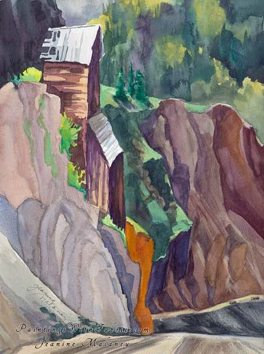Old Mine at Creede - an Original Southwest Watercolor Painting
