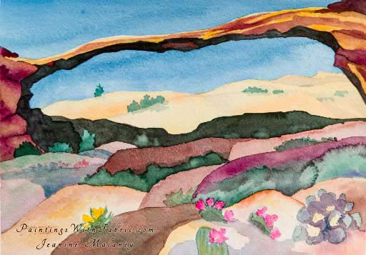 Remembering Landscape Arch-II - an Original Southwest Watercolor Painting