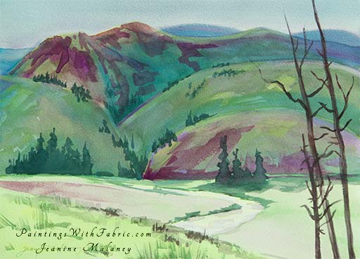 San Juan Rio Grande  - an Original Landscape Watercolor Painting