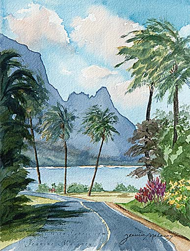 Hanalei Bay Unframed Original Artwork Watercolor Painting A celestial wonder
