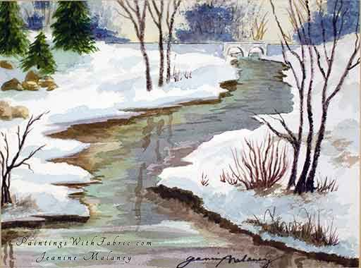 Juday Creek - an Original Winter Watercolor Painting