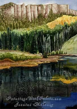 Opal Lake - an Original  Watercolor Painting