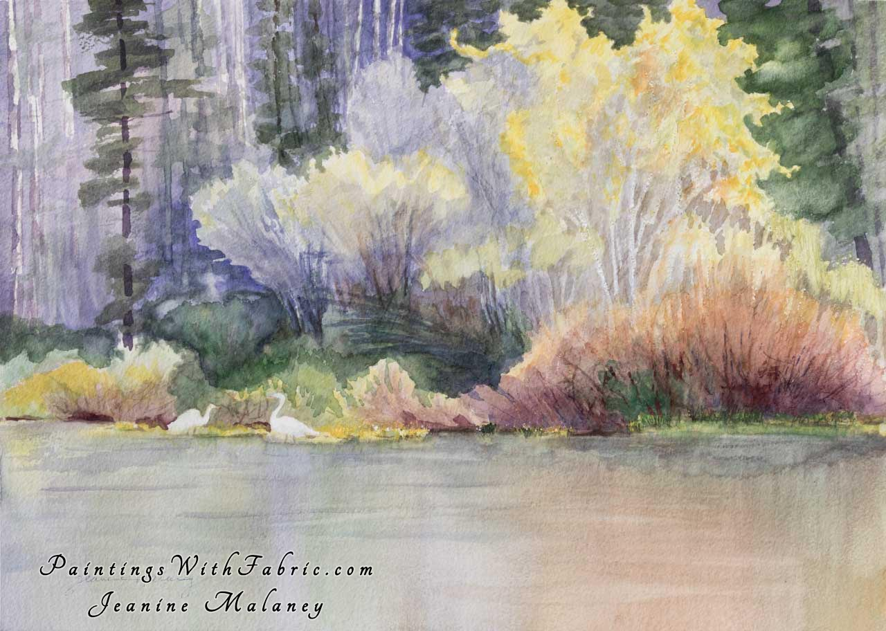 Tetons Marsh Unframed Original Watercolor Painting