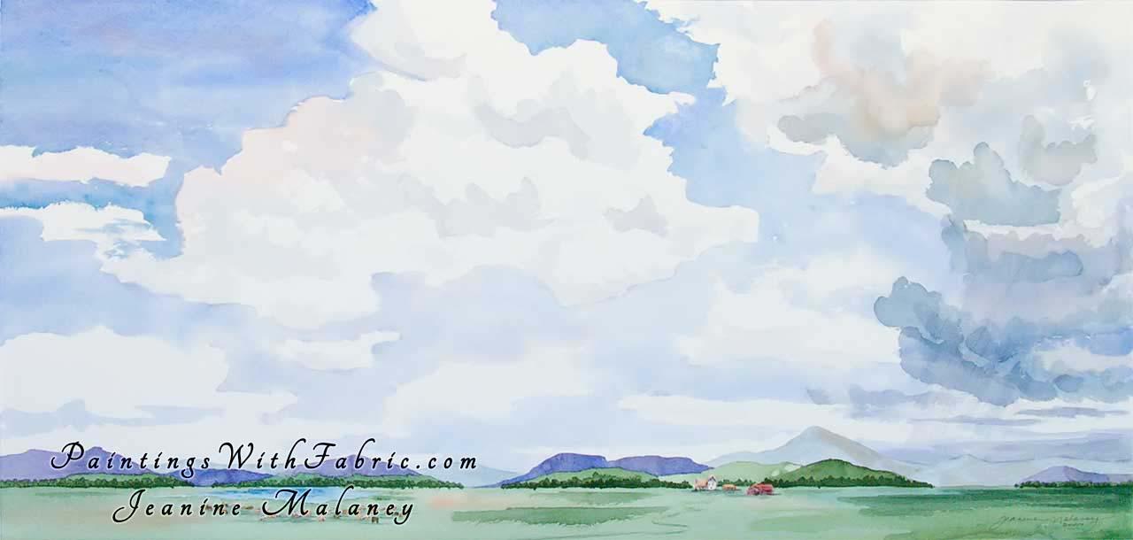 Colorado Big Sky Watercolor Painting