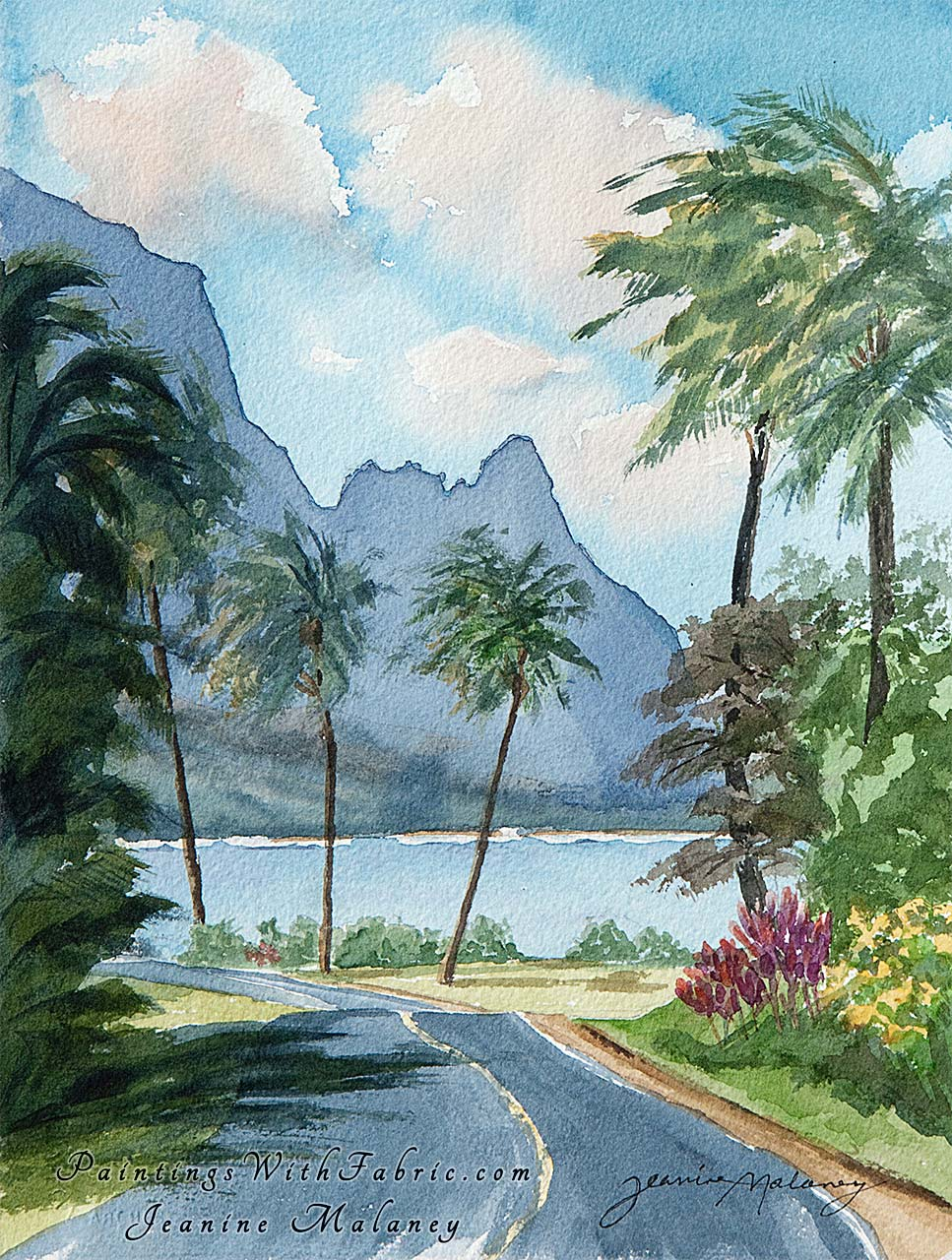 Hanalei Bay Watercolor Painting